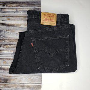 Levi's 550 Men's Black Jeans 38x32